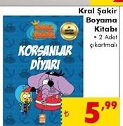 Sok Kral Sakir Boyama Kitabi A101 Bim Sok Migros Fiyati Nedir