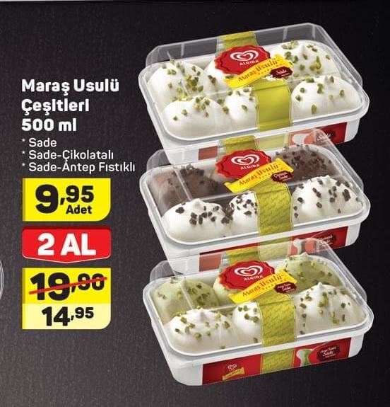 Algida Maraş Dondurma çeşitleri Aktüelde Ara Fiyatı Nedir A101